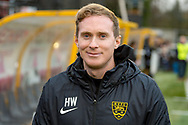 Maidstone United manager Harry Wheeler before the The FA Cup match between Maidstone United and Oldham Athletic at the Gallagher Stadium, Maidstone, United Kingdom on 1 December 2018. Photo by Martin Cole