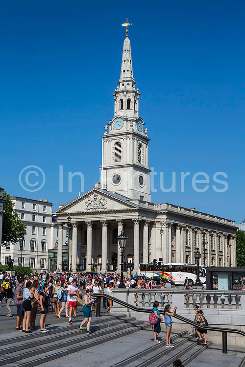St Martins in the Field church, Trafalgar Square, London. UK.