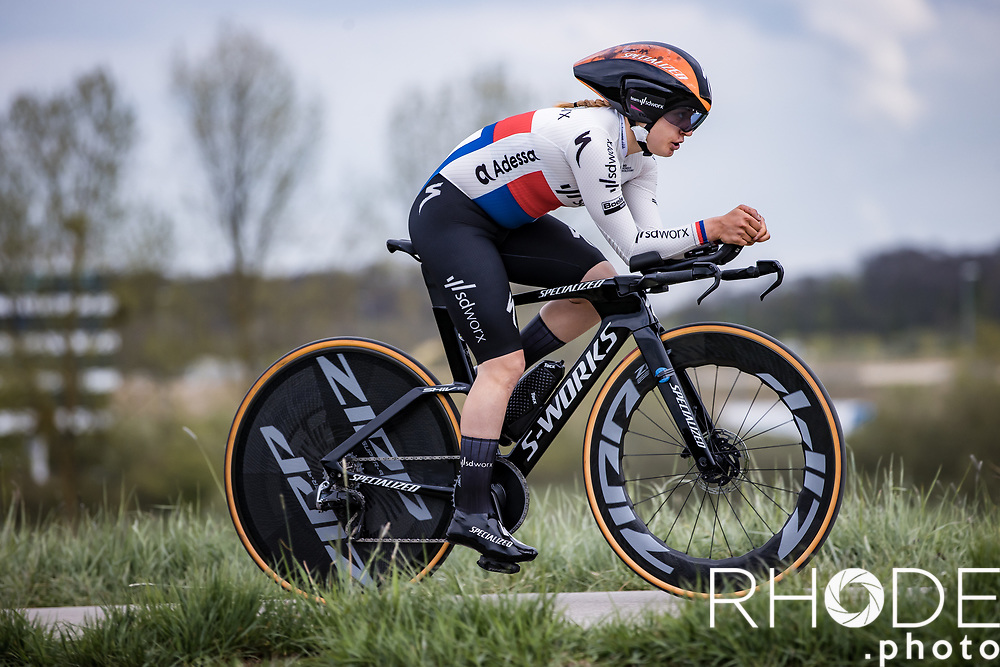 Nikola Noskova (CZE/SD Worx)<br /> <br /> Ceratizit Festival Elsy Jacobs (LUX) 2021<br /> UCI Women Elite 2.1<br /> Day 1 - prologue : Individual Time Trial (ITT) – Cessange (LUX) 2.2km <br /> <br /> ©RhodePhoto