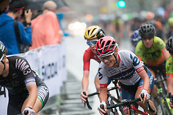 Ashleigh Moolmann-Pasio (RSA) of Cervélo-Bigla Cycling Team rides at the front on the Prudential Ride London Classique - a 66 km road race, starting and finishing in London on July 29, 2017, in London, United Kingdom. (Photo by Balint Hamvas/Velofocus.com)