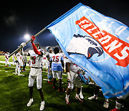 AC Flora Falcons wide receiver Spelden Wilson (3) celebratew following their State Championship win over the North Myrtle Beach Chiefs at Benedict College.
