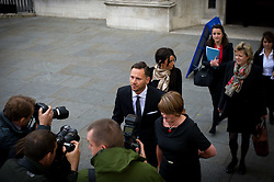 Glenn Mulcaire with wife Alison arrives at The Supreme Court opposite The Houses of Parliament on May 8th 2012 for the start of a two day hearing in which the private investigator is appealing against orders that he cannot rely on privilege against self-incrimination in the civil phone-hacking proceedings..Photo by Ki Price/i-Images