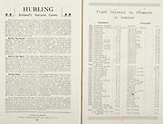 All Ireland Senior Hurling Championship Final,.Programme, .06.09.1953, 09.06.1953, 6th September 1953,.Cork 3-3, Galway 0-8, .Minor Dublin v Tipperary, .Senior Cork v Galway, .Croke Park, 0691953AISHCF,..Articles, Hurling Ireland's Ancient Game, Cluici Ceannair Na hEireann in Lomaint,