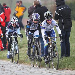Sportfoto archief 2013<br /> Omloop Het Nieuwsblad women Emma Johansson on the Paterberg with Longo Borghini, Olds and van Vleuten