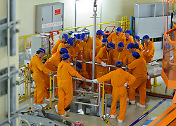 RWE employees work in the nuclear reactor chamber, at the RWE nuclear power plant, in Lingen, Germany, on Tuesday, Sept. 6, 2011. (Photo © Jock Fistick)