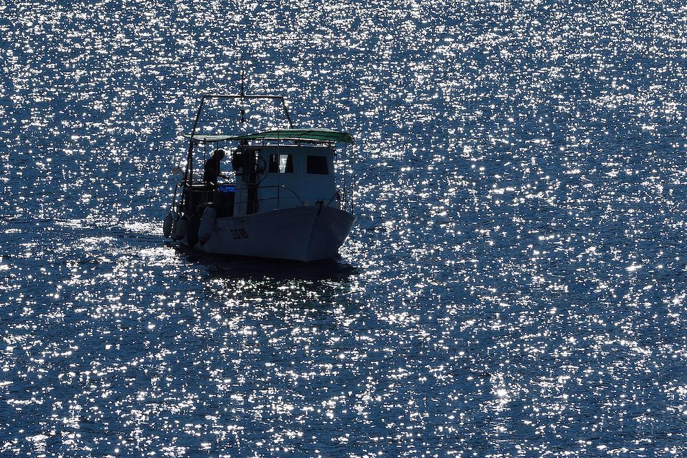 Fishing boat, Velebit mountains Nature Park, Croatia