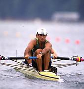 Atlanta, USA.   AUS M2- Robert SCOTT , David WEIGHTMAN, Silver   Medalist. 1996 Olympic Rowing Regatta Lake Lanier, Georgia [Mandatory Credit Peter Spurrier/ Intersport Images]
