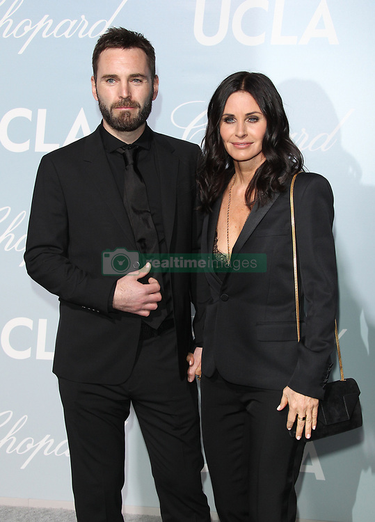 Hollywood for Science Gala - Beverly Hills. 21 Feb 2019 Pictured: Johnny McDaid, Courteney Cox. Photo credit: Jaxon / MEGA TheMegaAgency.com +1 888 505 6342