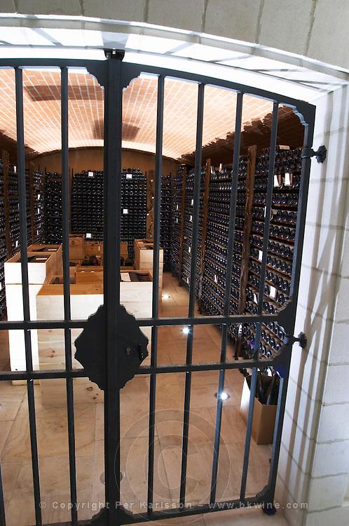 locked wine cellar domaine du grand tinel chateauneuf du pape rhone france