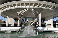 The Norris Crab - a stainless steel crab sculpture in the fountain in front of the H.R. MacMillan Space Centre in Vancouver, British Columbia, Canada.  The crab sculpture, which has no official name, was created by George Norris and fist displayed in front of the planetarium in 1968.  It is one of the most photographed works of art in Vancouver.