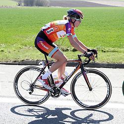 05-04-2015: Wielrennen: Ronde van Vlaanderen vrouwen: Belgie<br /> OUDENAARDE (BEL) cycling<br /> The 3th race in the UCI womens World Cup is the 12th edition of the Ronde van Vlaanderen. The race distance is 145 km with 12 Climbs and 5 zones of Cobbles.<br /> Ellen van Dijk kon haar overwinning niet prolongeren