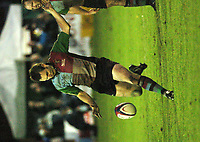 Photo: Ian Hebden.<br />Bedford Blues v Harlequins. National League Division 1.<br />03/12/2005.<br />Quins Andrew Mehrtens clears the line.