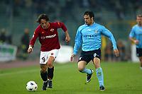Roma 16/4/2003 <br />Roma - Lazio 1-0 semifinale di coppa Italia <br />Vincenzo Montella e Stefano Fiore