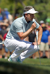 March 23, 2019 - Palm Harbor, FL, U.S. - PALM HARBOR, FL - MARCH 23: Luke Donald looks at the line of his putt during the third round of the Valspar Championship on March 23, 2019, at Westin Innisbrook-Copperhead Course in Palm Harbor, FL. (Photo by Cliff Welch/Icon Sportswire) (Credit Image: © Cliff Welch/Icon SMI via ZUMA Press)