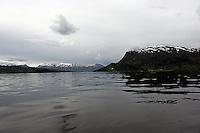 Midt i en fjord, in the middle of a fjord, Vinjefjorden