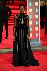 Lupita Nyong'o attending the EE British Academy Film Awards held at the Royal Albert Hall, Kensington Gore, Kensington, London.