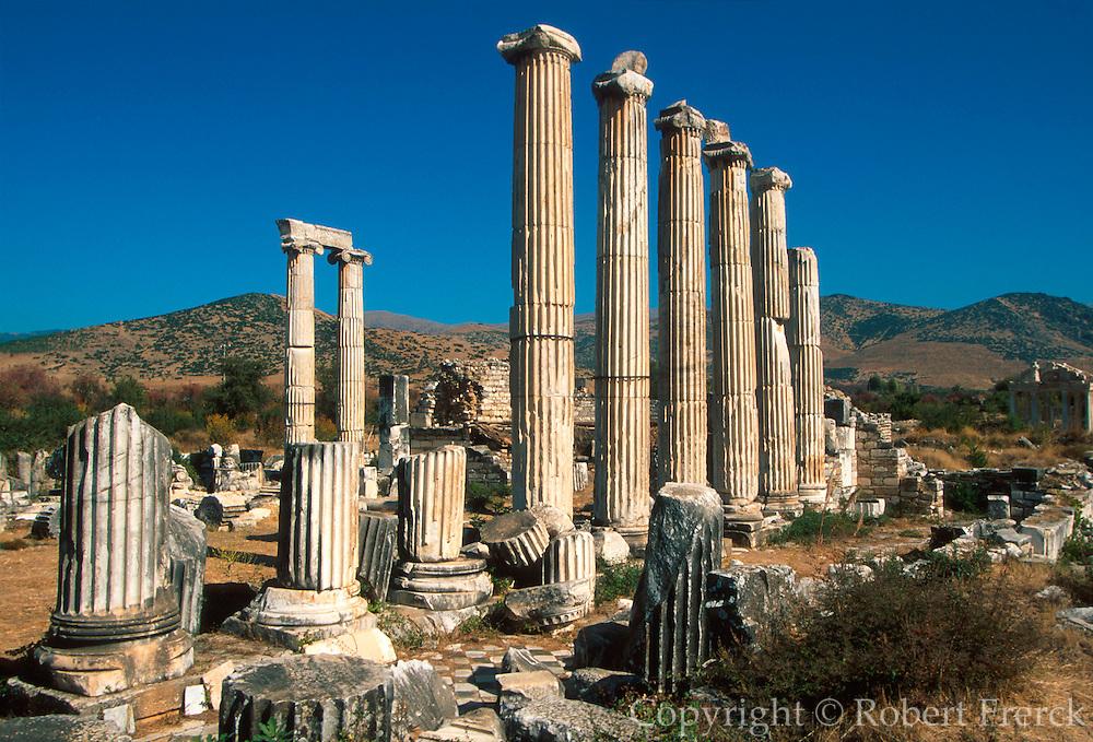 TURKEY, GREEK AND ROMAN Aphrodisias; Temple of Aphrodite columns