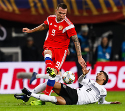 November 16, 2018 - Leipzig, Germany - Thilo Kehrer (R) of Germany and Anton Zabolotny of Russia vie for the ball during the international friendly match between Germany and Russia on November 15, 2018 at Red Bull Arena in Leipzig, Germany. (Credit Image: © Mike Kireev/NurPhoto via ZUMA Press)