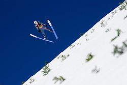 March 23, 2019 - Planica, Slovenia - Marius Lindvik of Norway in action during the team competition at Planica FIS Ski Jumping World Cup finals  on March 23, 2019 in Planica, Slovenia. (Credit Image: © Rok Rakun/Pacific Press via ZUMA Wire)