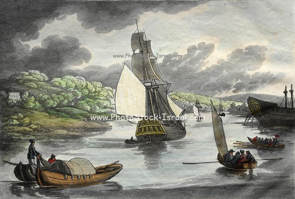 Rowlandson's Sketches from Nature: Fowey, Cornwall 1809 Thomas Rowlandson (British, 1756-1827)