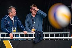 Joep van Iersel, Matt van Wezel during the last day of the beach volleyball event King of the Court at Jaarbeursplein on September 12, 2020 in Utrecht.
