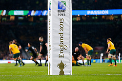 England 2015 World Cup Final post pad - Mandatory byline: Rogan Thomson/JMP - 07966 386802 - 31/10/2015 - RUGBY UNION - Twickenham Stadium - London, England - New Zealand v Australia - Rugby World Cup 2015 FINAL.
