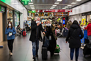 25 Feb 2020 -  ITALY. The country is facing the biggest outbreak of coronavirus in Europe. In the photograph, daily scenes at the Milano-Bergamo Airport with direct flights to the UK.