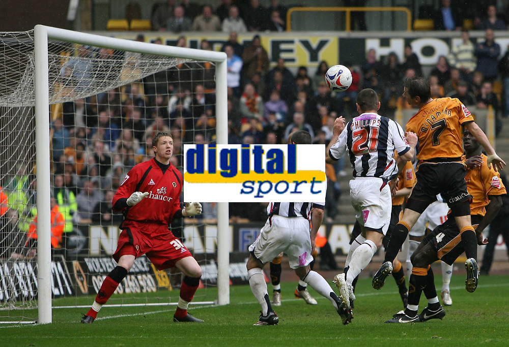 Photo: Rich Eaton.<br /> <br /> Wolverhampton Wanderers v West Bromwich Albion. Coca Cola Championship. Play off Semi Final, 1st Leg. 13/05/2007. West Broms Kevin Phillips #21 leaps to score in the second half and equalize at 2-2