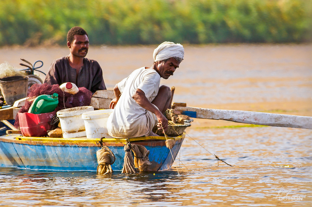 Fishing on the Nile River in Egypt