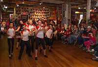 Middle and high school students from Edgewater Dance perform a hip hop dance routine during Arts Alive at the Belknap Mill on Thursday evening.   (Karen Bobotas/for the Laconia Daily Sun)