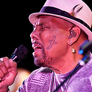 Iconic soul/R&B vocalist Aaron Neville, performs onstage during his U.S. Tour at The PlazaLive in Orlando, Florida on Wednesday, August 8, 2012. (AP Photo/Alex A. Menendez)