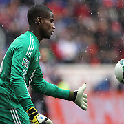 Bill Hamid, Goalkeeper for D.C. United,  in action during the New York Red Bulls V D.C. United, Major League Soccer regular season match at Red Bull Arena, Harrison, New Jersey. USA. 16th March 2013. Photo Tim Clayton