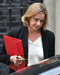 File photo dated 12/04/18 of Home Secretary Amber Rudd, as Prime Minister Theresa May has accepted the resignation of the Home Secretary, Downing Street has said.