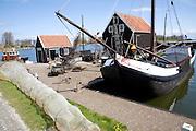 Marken fishing harbour, Zuiderzee museum, Enkhuizen, Netherlands