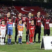 Gaziantepspor team players during their Turkish superleague soccer match Gaziantepspor between Trabzonspor at the Kamil Ocak stadium in Gaziantep Turkey on Sunday 02 September 2012. Photo by TURKPIX