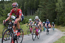 Anna Potokina approaches the end of the first gravel sector at the Crescent Vargarda - a 152 km road race, starting and finishing in Vargarda on August 13, 2017, in Vastra Gotaland, Sweden. (Photo by Sean Robinson/Velofocus.com)