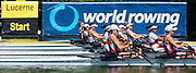 Lucerne, SWITZERLAND. Heat of the Women's Lightweight Double Scull, GBR LW2X, Bow, Charlotte TAYLOR and Kat COPELAND. 2015 FISA World Cup III, Lake Rotsee,    Friday  10/07/2015   [Mandatory Credit. Peter SPURRIER/Intersport Images ]