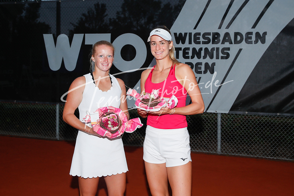 Lara Salden (BEL), Anna Bondar (HUN) - WTO Wiesbaden Tennis Open - ITF World Tennis Tour 80K, 26.9.2021, Wiesbaden (T2 Sport Health Club), Deutschland, Photo: Mathias Schulz