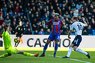 Crystal Palace #13 Wayne Hennessey, makes the save, (10) Harry Kane of Tottenham Hotspur during the Premier League match between Crystal Palace and Tottenham Hotspur at Selhurst Park, London, England on 25 February 2018. Picture by Sebastian Frej.