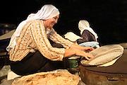 Druze women Baking pita