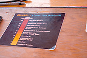 Chart shows various steps of electrical power and what it takes to kill you. Aquatennial Beach Bash Minneapolis Minnesota USA
