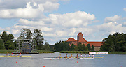 Trackai. LITHUANIA. USA BM4- Bow Theodore BAUMGARDENER, Alexanda KARWOSKI, William GILLES and Justin JONES, Qualify for the Sunday final, of the men's four, at the  2012 FISA U23 World Rowing Championships,   16:19:51 {dow], {date} [Mandatory Credit: Peter Spurrier/Intersport Images]..Rowing. 2012. U23.