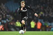 Leeds United midfielder Samu Saiz (21) on the attack during the EFL Sky Bet Championship match between Aston Villa and Leeds United at Villa Park, Birmingham, England on 13 April 2018. Picture by Alan Franklin.