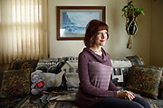 Mandy Martinson at her father's home where she is currently living after serving more than 12 years in prison for a drug conviction, which was commuted by President Obama, Friday, Dec. 16, 2016, in Mason City, Iowa. Scott Morgan for NBC News