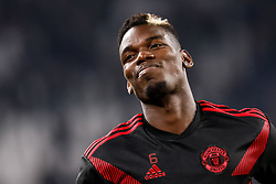November 7, 2018 - Turin, Italy - Paul Pogba of Manchester United smiles during the warm-up ahead of the Group H match of the UEFA Champions League between Juventus FC and Manchester United FC on November 7, 2018 at Juventus Stadium in Turin, Italy. (Credit Image: © Mike Kireev/NurPhoto via ZUMA Press)