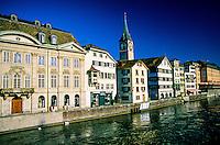 Along the Limmat River, Zurich, Switzerland