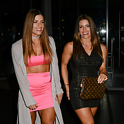 Twin sister's Lucy West and Jennifer West Britain sexiest bodybuilder attends a dinner to raise funds for KIDS, a charity that supports disabled children, young people and their families at Riverbank Park Plaza on 24 November 2018, London, UK.