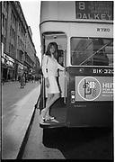 Jean Shrimpton<br /> Appearance at Arnotts<br /> No. 8 Bus to Dalkey 16 June 1966 BOX, C622 June 1966