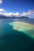 Sand Bar, Kaneohe Bay, Oahu, Hawaii.