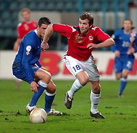 7.2.2007 Rijeka-Croatia<br />Croatia-Norway friendly<br />john Anders Bjorkoy(R) Norway<br />foto:Digitalsport